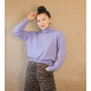 (363) vtg 90s lilac purple turtleneck sweater